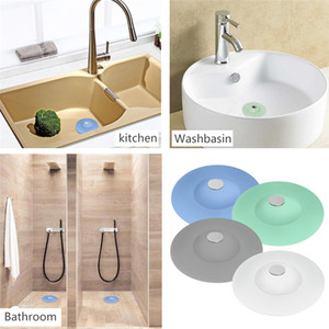 1pcs Silicone Drain Tub Stopper Hair Trap Catcher Bathtub 2 in 1 Sink Strainers for Floor Kitchen Laundry Bathroom Easy Clean
