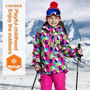 LEOSOXS Children's Ski Jacket Boys And Girls Ski Coat Waterproof Warm Snowboard Breathable Outdoor Sport Thickened Cotton Jacket1