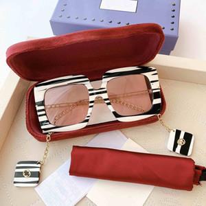 0722S Mulheres Exclusivo Praça Sunglasses Eyewear com templos de metal encantos de ouro com branco mãe de pérolas destacável efeito acetato
