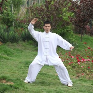 Set Tai Chi Men Uniform Cotton 5 Colors High Quality Wushu Kung Fu Clothing Kids Adults Martial Arts Wing Chun Suit Vintage 1004