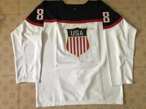 #88 Patrick Kane usa team Retro throwback MEN'S Hockey Jersey Embroidery Stitched Customize any number and name
