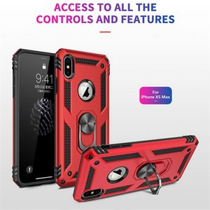 Shockproof Armor Case For iPhone X 7 8 6 6s Plus Magnetic Metal Ring Holder Stand Phone Cover Coque For iPhone XS Max XR