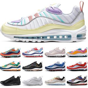 nike air max 98 erkek kadın Koşu Ayakkabıları Camo Jade Tozlu şeftali Kraliyet Tonu Yelken Soluk Pembe Erkek Eğitmenler Spor sneakers Boyutu 36-45