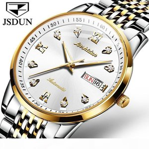 2020 New Automatic Men's Mechanical Watch Calendar Display Men Watches with Rhinestones Designer Brand Relogio Masculino