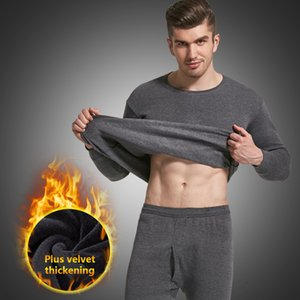 Men Thermal Underwear Sets Warm Long Johns Autumn Winter Long Thermo Underwear Set Male Thick Thermal Clothing Suit Inner Wear 201007