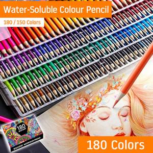 Çocuklar Yetişkin Çizim Not Okul Art Hediyeler Boyama 150/180 Renkler WaterColor Kalemleri Seti Ahşap Renkli Kalem Seti Y200428 Malzemeleri