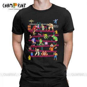 Men Arcade Game Collage T Shirts FC Console Game Vintage Style Tee Shirt Classic LA Camiseta Cotton Clothing Plus Size T-Shirt X1214