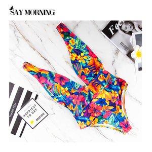 Say Morning Brilhante Um Peça Swimsuit Mujer Sexy Bikini Sólido Backless Beachwear Swimwear Mulheres Banheira Natação