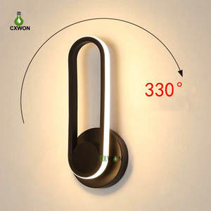 Modern Wall Sconce 12W LED Rotatable Bedside Wall Lamp Bedroom Living Room Corridor Hotel Shop Indoor Wall Light