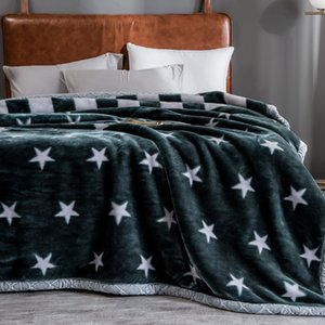 Blanket The New Raschel fabric Cloud sable coral fleece Double thick blanket Warm printing autumn and winter Air conditioning blanket factor