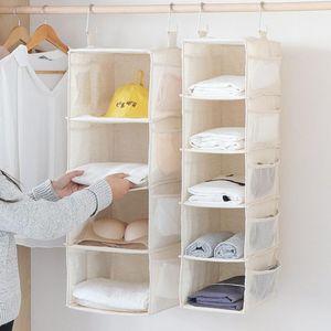 4 5 Layers Wardrobe Hanging Storage Bag Clothes Hangers Holder Closet Organizer Shelf for Bra Shoes