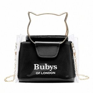 Women Transparent Small Handbag Shoulder Bag Cute Beach Female Tote JOCZ#