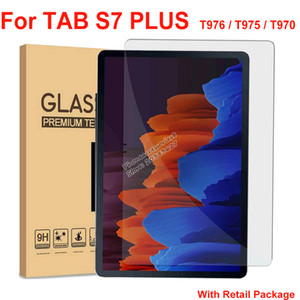 Tablet Tempered Glass Screen Protector For Samsung TAB S7 Plus S7PLUS T976 T975 T970 9H 12.4 inch protective glass with retail package