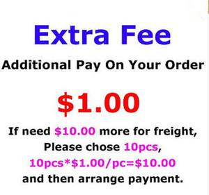 Tassa di bilancio solo per costo aggiuntivo dell'ordine, spese di spedizione extra, personalizzare il nome o una tassa di patch extra o dimensioni specialistiche, 1 pezzo = 1USD