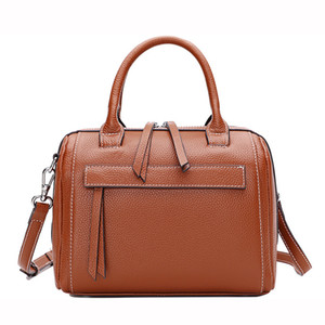 26*20*13 cm, Leather Guarantee Boston, Women Genuine Leather Handbag, Lady 100% Natural Cowhide Shoulder Cross body Bag, P002