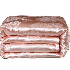 Устанавливается наборы Silk Silk Летнее стеганое стеганое состояние Состояние Состояние атласных Жаккарда Большой размер Взрослый Утешитель Кровати Дом Использовать высокое качество