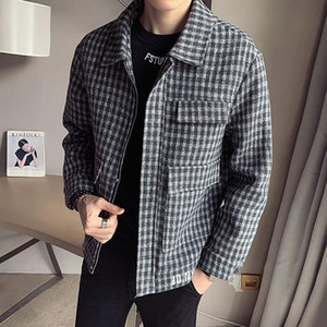 HCXY brand windbreaker for men 2020 new fashion mens autumn and winter coat casual woolen jacket male