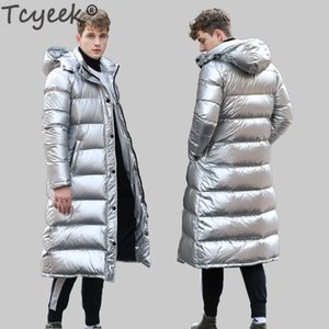 Tcyeek Streetwear Men's Down Jacket Fashion Brand 90% Thick Duck Down Jacket Man Clothes Long Warm Down Coat Parka Hiver 101 201104