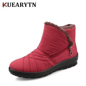 2020 Autumn Winter Casual Snow Boots Waterproof Women Ankle Boots Thermal Flat Slip-resistant Fashion Winter Shoes Woman