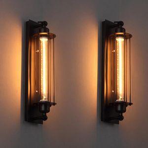 40W Wall Lights Industrial Vintage Wall Lamps Bra Iron Loft Lamp Bedroom Corridor Restaurant Pub Edison Retro Sconces Lamp