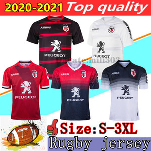 Novo 2020 2021 Toulouse Casa longe Rugby Jerseys 19/20/21 Stade Toulousain RUGBY camisa do treinamento Maillot Camiseta Maglia