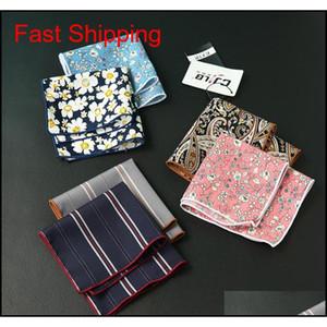 Gosta dos homens Cravat Scarf Handkerchiefs Algodão Bolso Quadrado Hankies Homens Business Square Pockets Hanky Handkerchief Fashion Ties To7i1