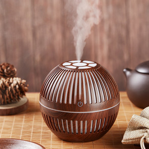 LED Electric Aroma Air Diffuser 300ml Wood Grain Mini Ultrasonic Air Humidifier Essential Oil Aroma Diffusers Portable USB Humidifiers