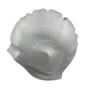 Capuchon de natation Silicone Silicone Natation Casquettes Protégez les oreilles Femmes Coiffures longues Sports imperméables Share Piscine Chapeau HWF2785