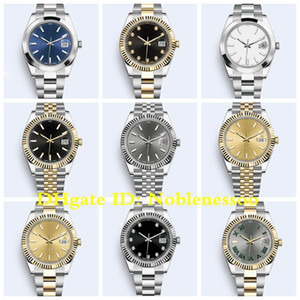 19 Style Mens 41mm Yellow Gold 126300 126333 126334 126331 Watch Oyster bracelet Jubilee bracelet Asia 2813 Movement Automatic Men's Watches
