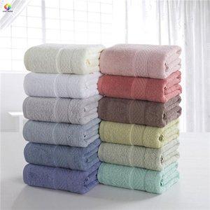 70*140cm Solid Bath Towel 100%Cotton Gray Green Children Adult Beach Bathroom Washcloth Pink Coffee White Home Hotel Textile Blanket