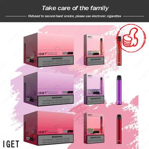 Original Iget Shion Pod Device Kit 600ff 400mAh 2.4ml Portable Vape Stick Pen Bar Plus XXL Max 100% Authentic