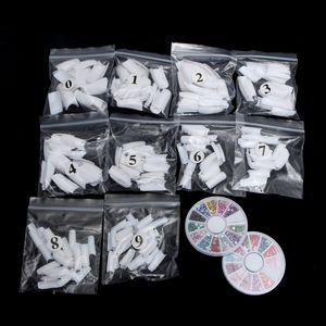 Set completo 42pcs Nail Polvere di scintillio corredo del manicure 3D design polvere acrilica del gel smalto chiodo capovolge decorazione DIY delle gemme d'arte TSLM2