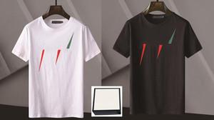 2020 letra Imprimir Camisetas Homens Mulheres Preto Verão Branco Moda Casual Rua T-shirt Off Designer Graffiti Listras Branco Camiseta