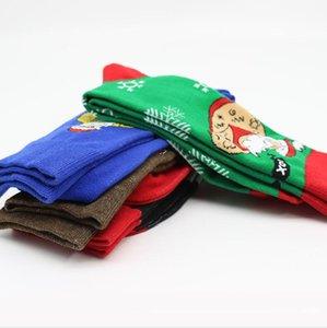 Noel çorap Yetişkin Erkekler Çorap Karikatür Komik Elk Cactus Sonbahar Kış Noel Baba Avokado Büyük Beden Orta Çorap EU39-46 CZ102403