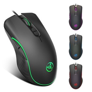 HXSJ A867 Gaming Mouse Mouse Wired 6400DPI Mice Gamer 7 Кнопка RGB LED Color Backlit Opto-Electronic Мышь для PC Pro Gamer