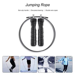 Double heavy metal block jumping exercise health rope skipping Boxing Fitness jump training