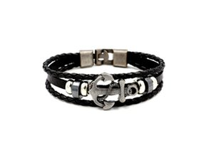 Mens Leather Punk Multi Layer Plated Alloy Bracelet Fashion Hotsell High Quality Bracelet Newest