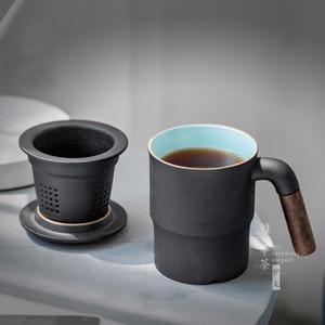 Taza de Oficina de Alta Calidad Con Filtro y Cubierta Tazas Taz Taza Cerâmica Para El Hogar