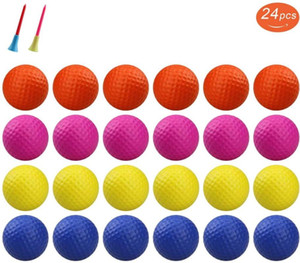 12 / 24pcs Crestgolf Pratik Köpük Golf topları, Golf Köpük Sünger Yumuşak Elastik Uygulama Kapalı Açık Topu