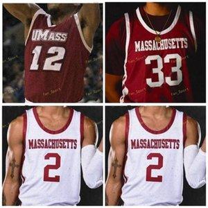 UMass Minutemen College Basketball 10 Sean Est 33 Tre Mitchell 23 T.J. Settimane 12 Carl Pierre 5 Samba Diallo 4 Keon Clergeot personalizzato cucito