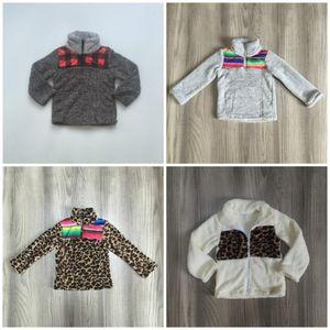 Girlymax outono / outfits de inverno meninas bebezas casaco quente serape leopardo xadrez mamãe mamãe me algodão roupas crianças boutique top 201031