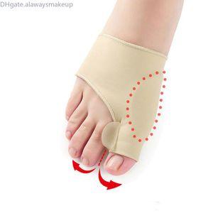 Silicone Hallux Valgo Bretelle Big Bianco Blackmail Correzione ortopedica Big Blackmaild Socks Toes Separator Feet Care Tool 1 Pair