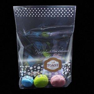 1200 unids 23x30 + 6cm mate claro de plástico plástico pan tostado bolsa de embalaje abierto top caramelo regalo embalaje plana bolsa mul6 #