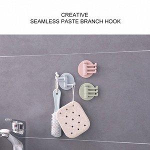 1 Stück Kreative nahtlose 3 Zweig rotierender Haken Küche Bad Wand kleben hakt nach Hause Last Bad Küche Haushalt neu HbHK #