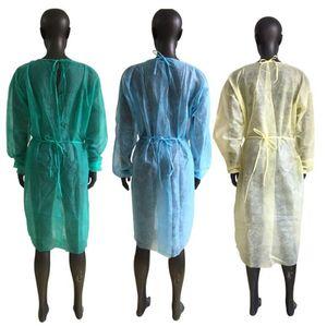 Não-tecidos vestido de 3 cores Unisex descartável Raincoats Proteção aventa Dustproof Protective Raincoats TRANSPORTE MARÍTIMO CCA12603