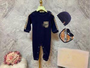 Baby Girl Romper Newborn Sleepsuit + Bib + Hat Rompers Infant Clothes Long Sleeve Newborn Jumpsuits Baby Boy Pajamas 3Pcs set