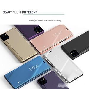 Espejo original elegante de la caja del teléfono para Iphone SE 2020 11 Pro Max XS XR MAX 8 7 6 Samsung S20 Ultra cubierta del tirón con Box