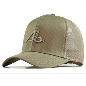 XXL 62-68cm Big Head Man Plus Size Baseball Cap Men Summer Thin Polyester Mesh Trucker Hat Male 3d Embroidery Snapback Hats 201026