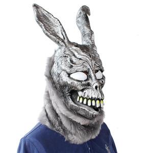 Donnie Darko FRANK Coniglio Maschera di Halloween del lattice cappuccio con pelliccia Bunny Mask regalo divertente Z0301