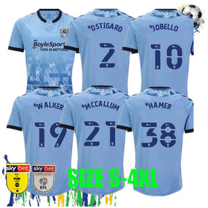 2020 2021 حجم S-4XL Coventry City Soccer Jerseys Ostigard Jobello Walker McCallum Da Costa Hamer 20 21 Home Blue Football Shirts Thailand